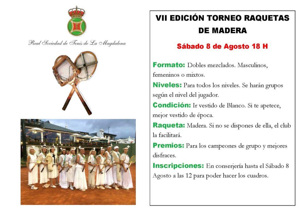 RAQUETAS DE MADERA 2020 VII EDICION